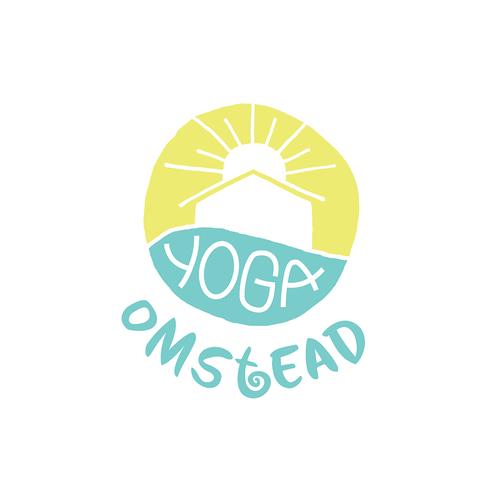 Sunshine logo with the title 'Yoga Studio Logo'