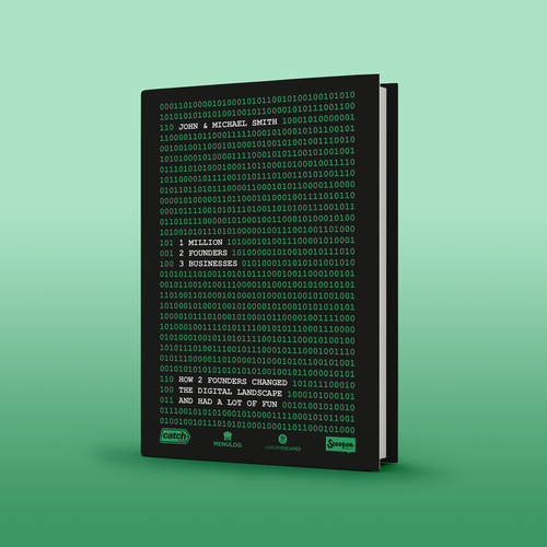 Digital book cover with the title 'Business book cover '