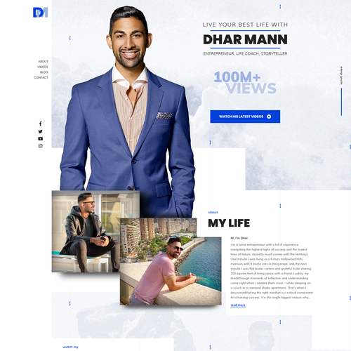 Personality design with the title 'Home Page Design'