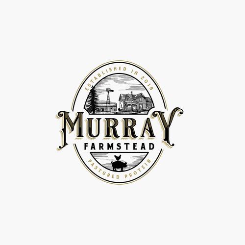 Barn logo with the title 'Murray Farmstead'