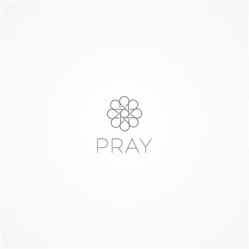 Prayer logo with the title 'logo concept for Pray'