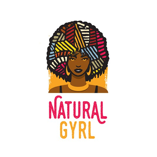 Afro logo with the title 'Natural Gyrl'
