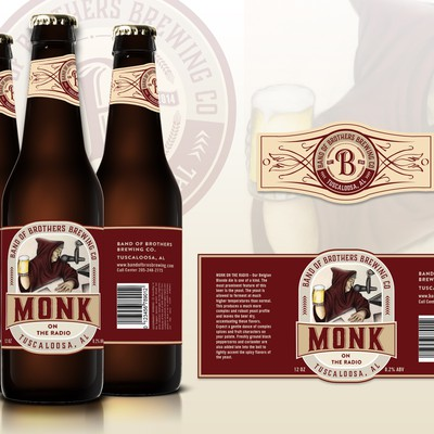"Label design for ""Monk on the radio"""