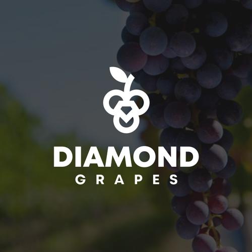 Grape design with the title 'Diamond Grapes'