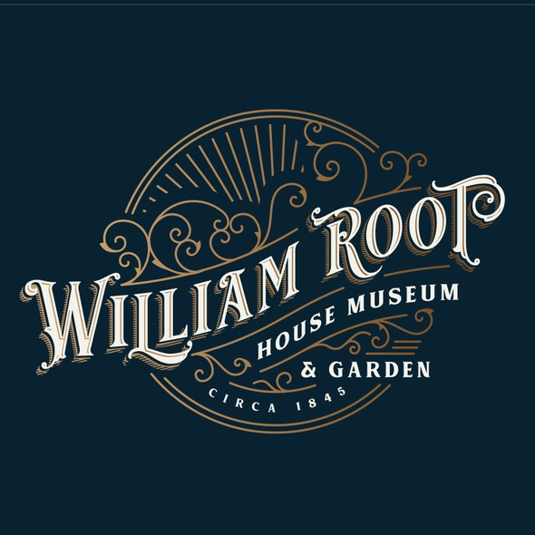 Flourishes design with the title 'William Root House Museum logo'