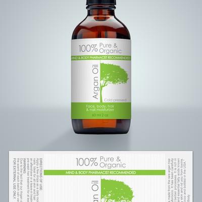 create a top selling moroccan argan oil label