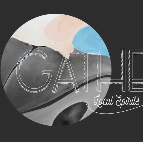 Marble logo with the title 'Gather - Local Spirits & Stories'