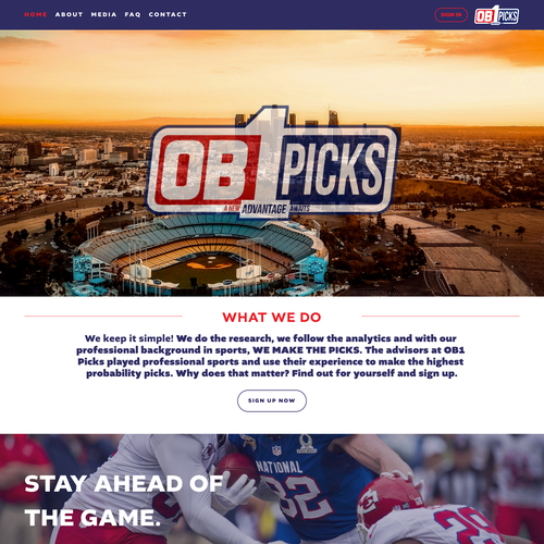 HTML website with the title 'Sports Focused Design For Online Betting'