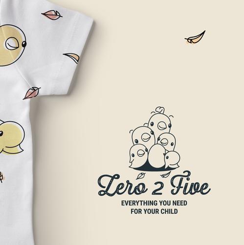 Childcare design with the title 'Zero 2 Five / logo'