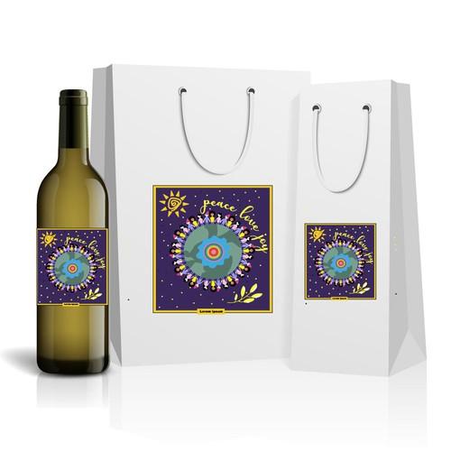 Wine illustration with the title 'Wine identity design'
