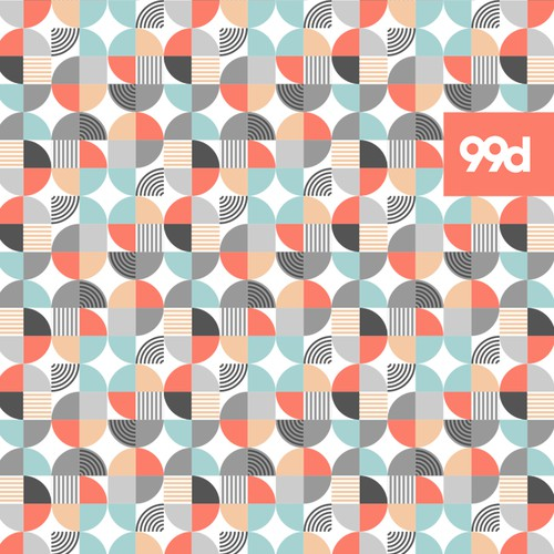 Bauhaus design with the title 'Community Contest | Design a Hip Minimal Pattern for 99designs' Blanket'