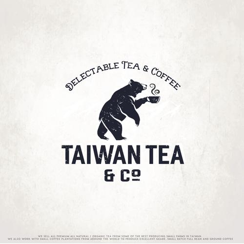 Bear head logo with the title 'Taiwan Tea'