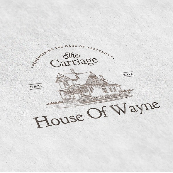 Neat logo with the title 'The Carriage House of Wayne Logo'