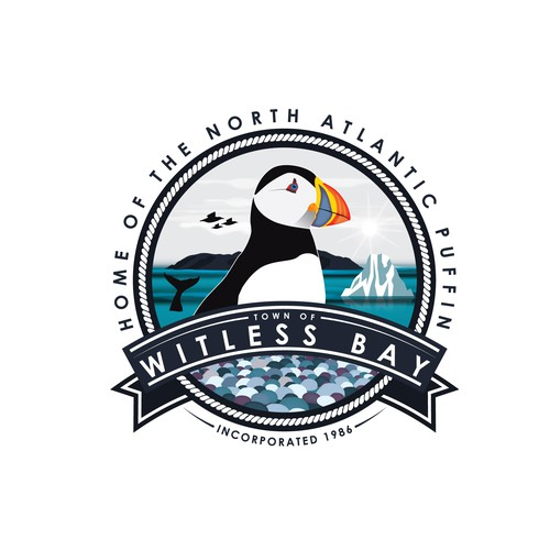Seal logo with the title 'Puffin logo'