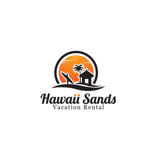 Hawaiian design with the title 'Logo for vacation agency in Hawaii.'