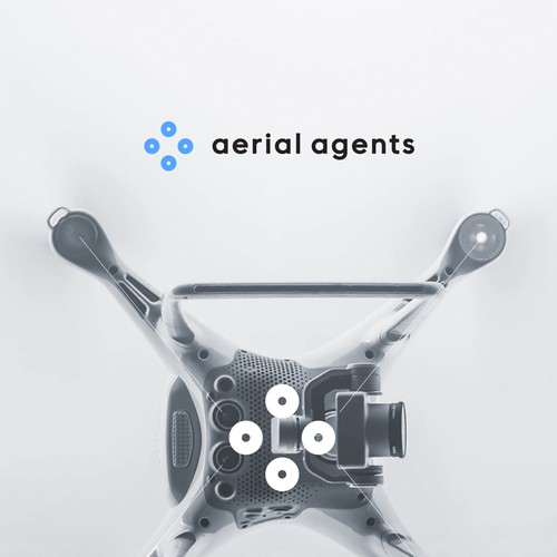Aerial design with the title 'Minimal Logo for Drone Company'