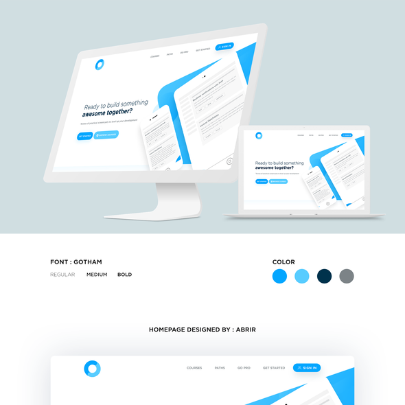 Attractive website with the title 'Clean, Bold Homepage Design'