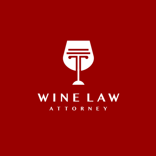 Pink and red logo with the title 'wine glass + pillar '