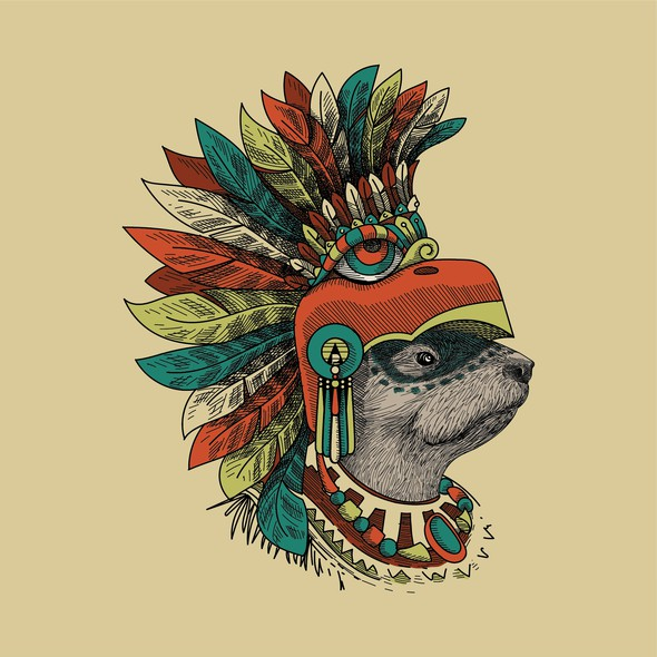 Aztec design with the title 'Noble Otter and AP Reserve meet again for Jungle Warrior'