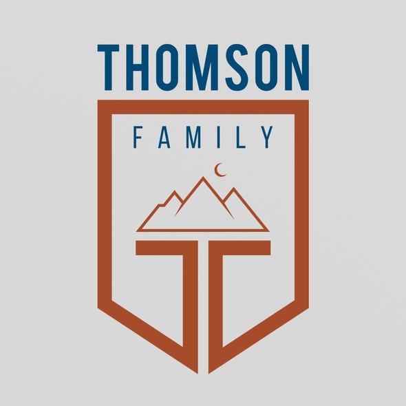 Letterhead logo with the title 'Thomson Logo and Letterhead Design'