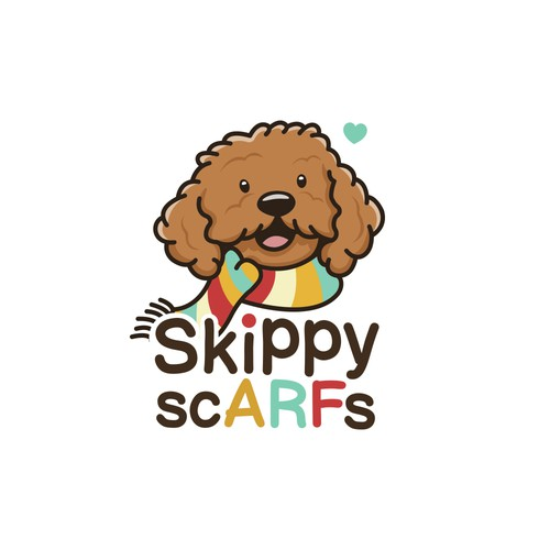 Scarf design with the title 'Skippy Scarfs'