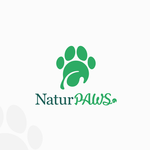 Paw design with the title 'NaturPAWS'
