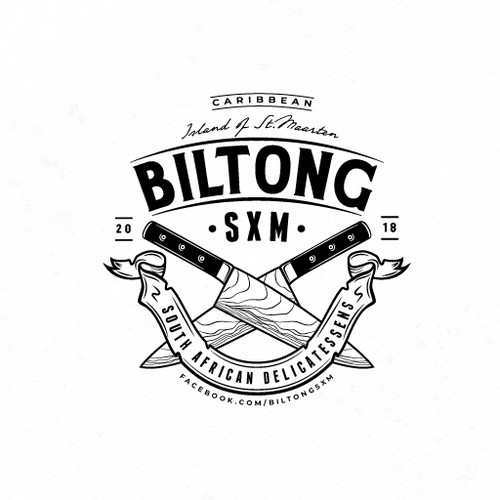 Meat logo with the title 'Vintage-inspired logo for South African delicatessens company'