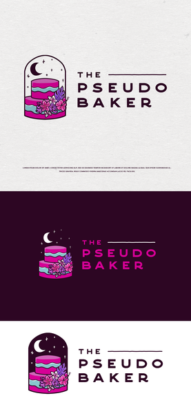 Tarot design with the title 'THE PSEUDO BAKER'