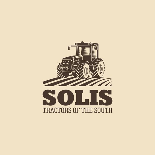 Field logo with the title 'Logo concept for new distributorship of tractors in the United States.'