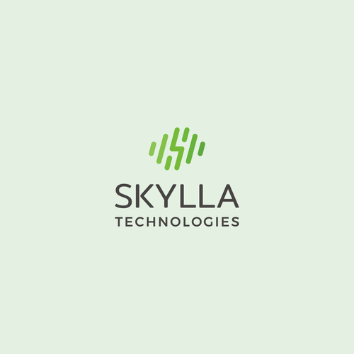 Lightning design with the title 'Energetic logo for robotic startup: Skylla Technologies'