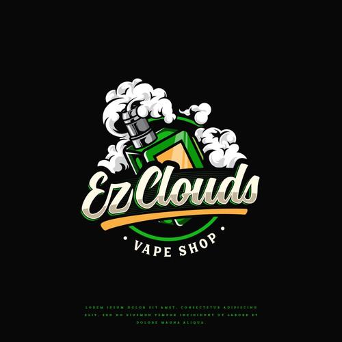 Cloud logo with the title 'Ez Clouds Vape Shop'
