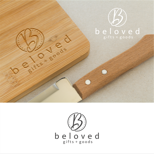 Flexible design with the title 'Cute and Rustic Logo'