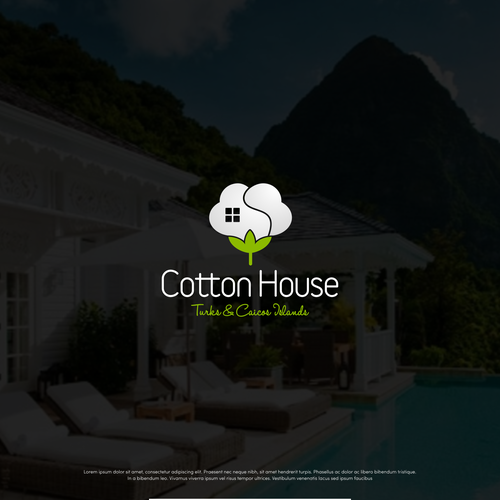 Villa design with the title 'Cotton House Logo'