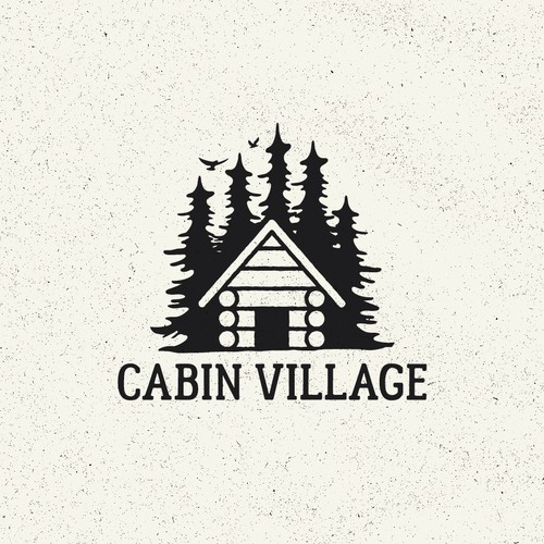 Cabin design with the title 'Cabin Village image package'