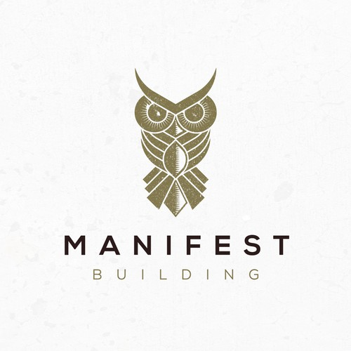 Owl design with the title 'Manifest Building'