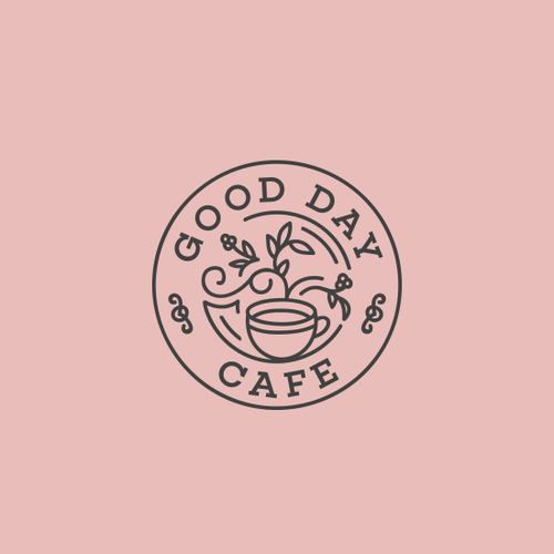 Coffee logo with the title 'Colourful, Contemporary, Happy'