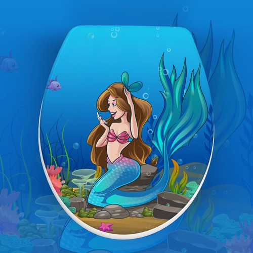 Mermaid design with the title 'Illustration for Kids'