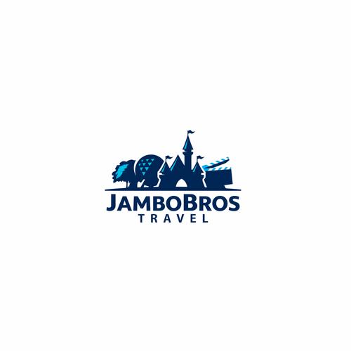 Landmark design with the title 'Logo for JamboBros Travel'