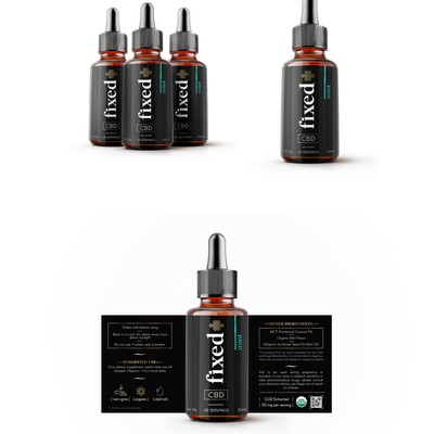 CBD tinture, label design