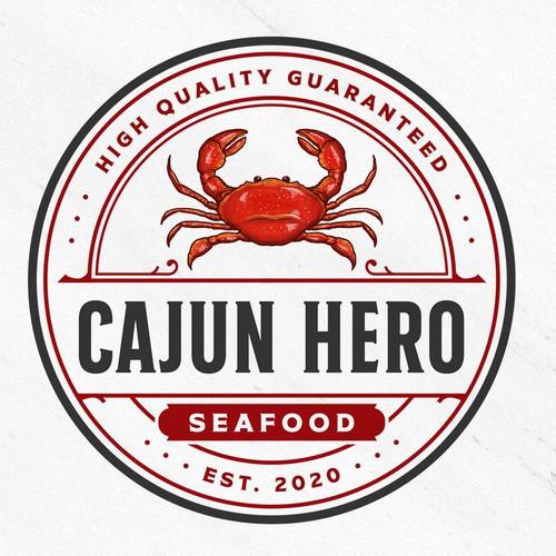 Logo with the title 'Cajun Hero'