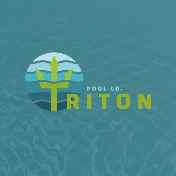 Pool design with the title 'Triton Pool Co. Logo Concept'