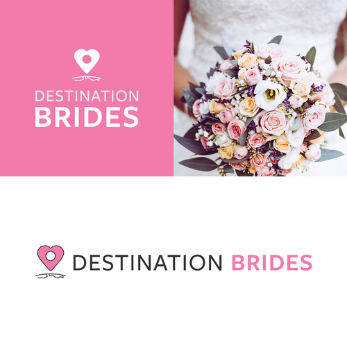 Destination logo with the title 'Logo design for online wedding service'