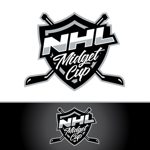 Hockey design with the title 'hockey tournament logo'
