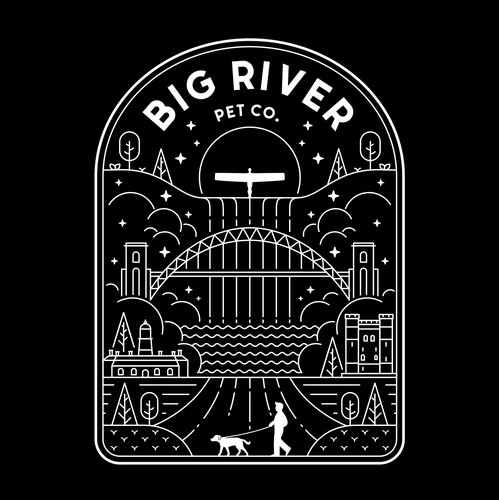 Pet t-shirt with the title 'Big River Pet Co. Adventure Clothing Brand  '
