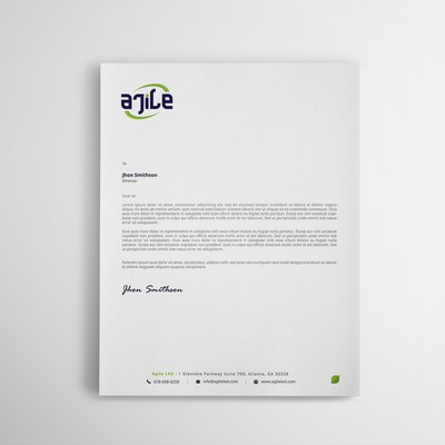 Modern and Professional Letterhead