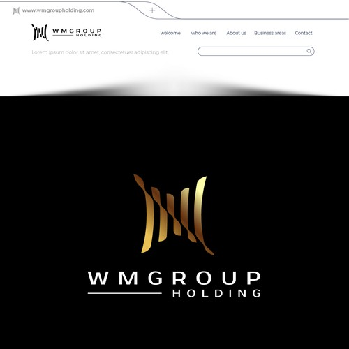 Financial holding logo with the title 'WM GROUP'
