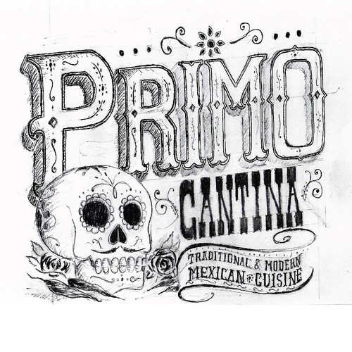 Dia de los Muertos logo with the title 'Logo for  Mexican Restaurant'
