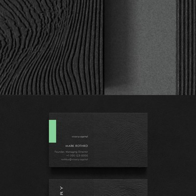 Impactful business cards for Visary Capital
