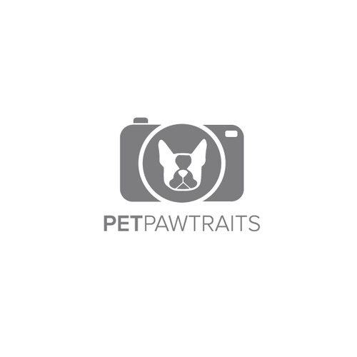 Gray design with the title 'Pet Pawtraits'