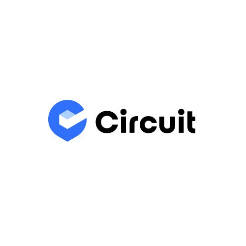 Check mark logo with the title 'Circuit logo rebrand'